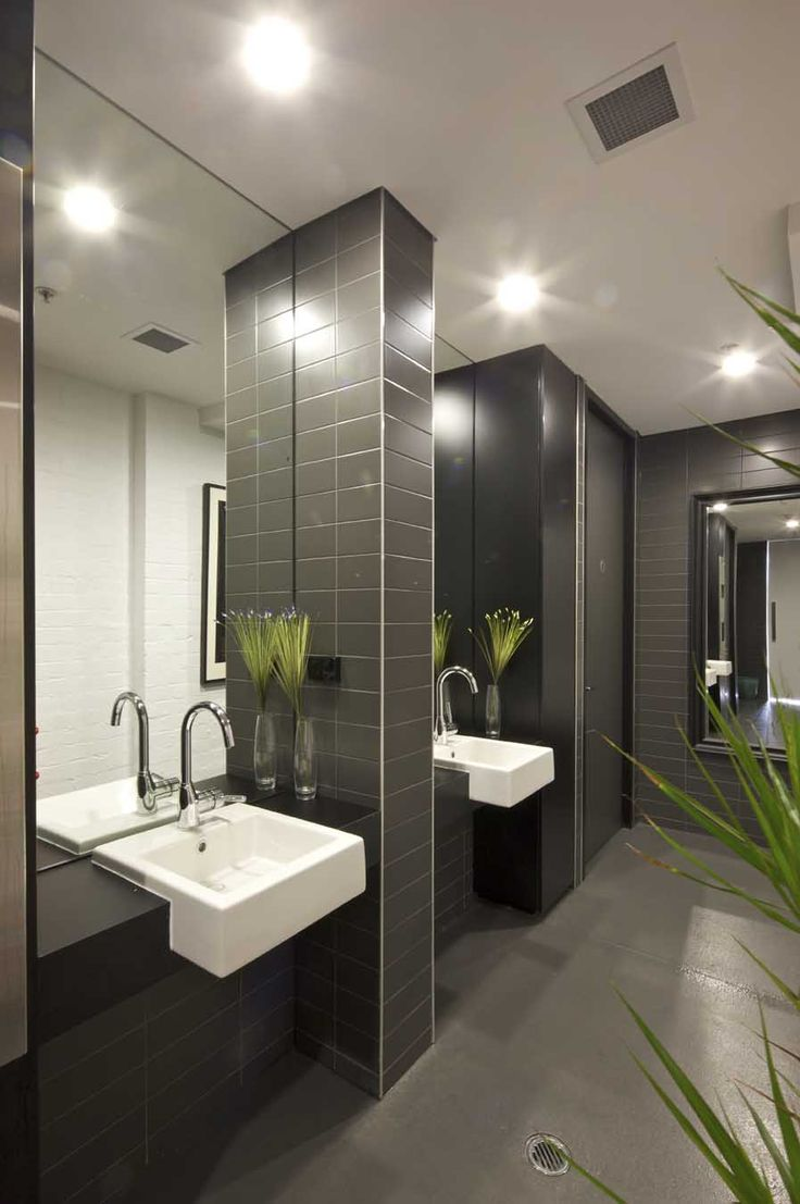 43 best public bathroom design images on pinterest for Washroom decoration ideas