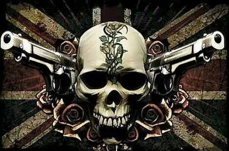 Cool Skulls With Guns Skull And Wallpapers Pc Cool Skull And Guns