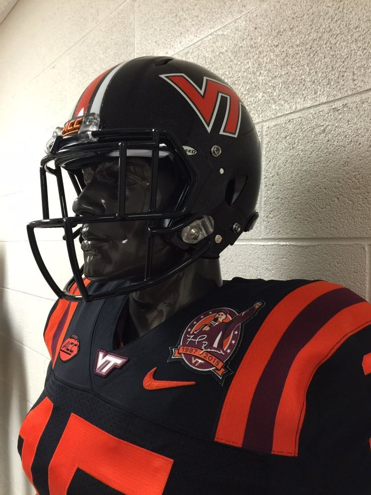 Virginia Tech all black uniforms for Coach Frank Beamer's