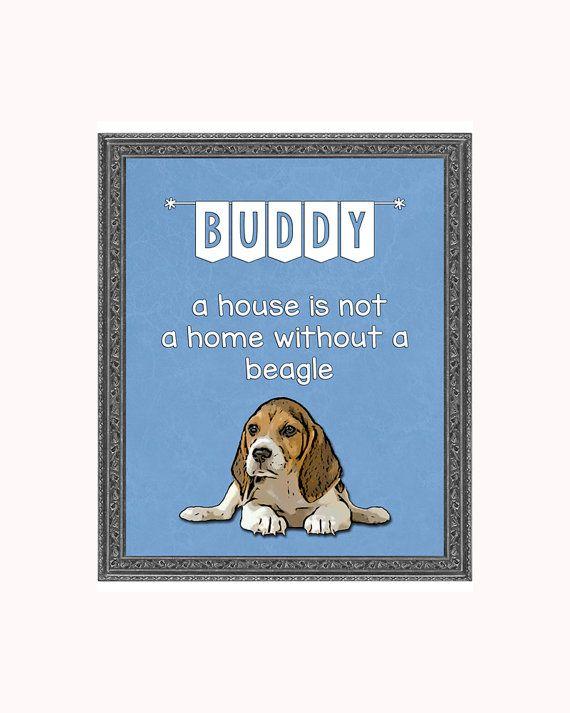 Personalizar esta impresión de Bellas Artes con su nombre de Beagles. El Beagle fue reconocido oficialmente por el AKC en 1885. Curioso, amigable y a menudo descrito como alegre - Beagles son cariñoso y adorable, feliz, tolerante y sociable. Lyndon propiedad tres Beagles llamados Él, Ella y