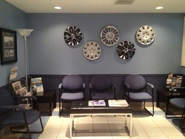 Waiting Room in A Tire Store - contemporary - Garage And Shed - Toronto - Chic Alors Decor & Design