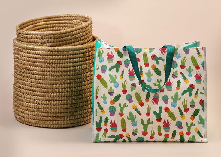 Pevná taška na nákupy nebo třeba na pláž. S motivem Kaktus toto léto zaručeně trendy :) #cactus