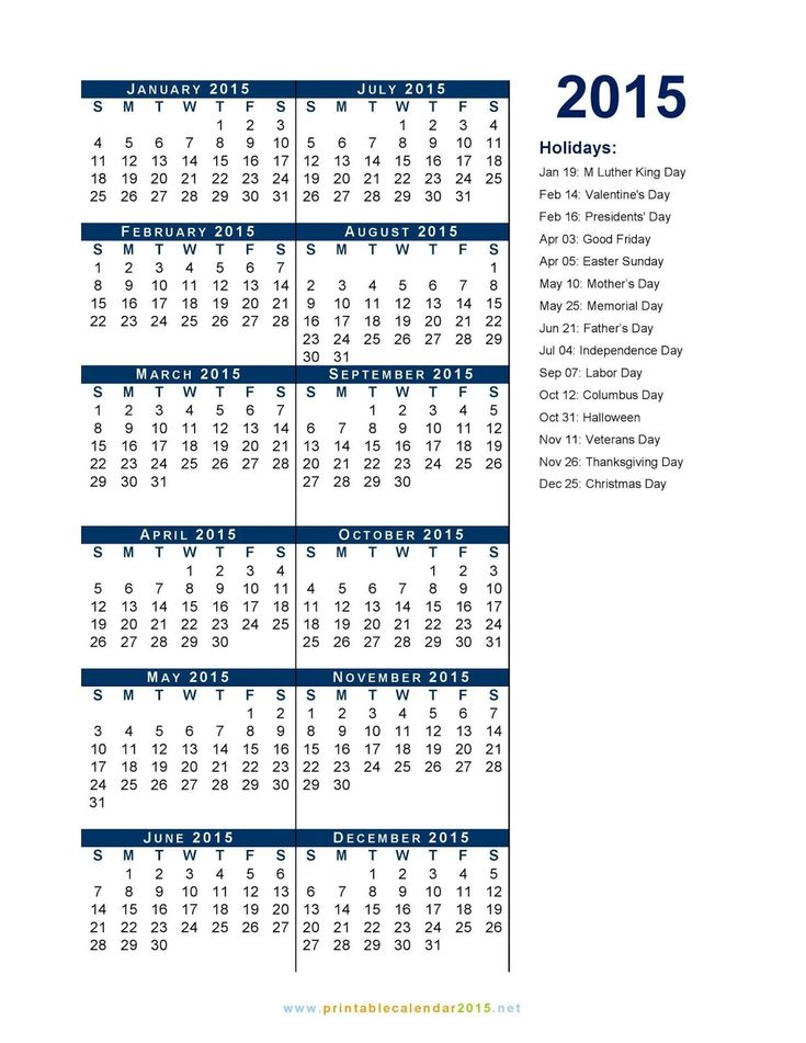 Federal Holidays 2015 List - United States Holiday Official List