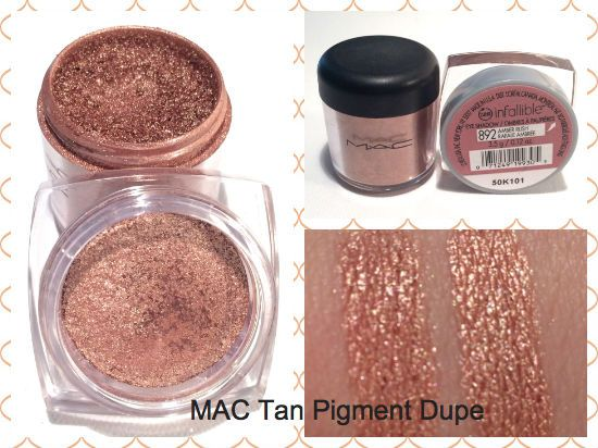 MAC Tan Pigment Dupe Review, Photos and Swatches.