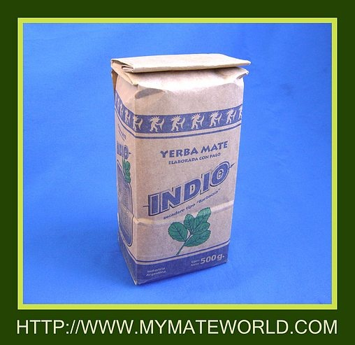"*NEW Smoked ""INDIO"" Yerba Mate - 1.10"" P / FAIR TRADE , Organic Yerba Mate Tea Store - Bombilla Gourd Retail Wholesale"