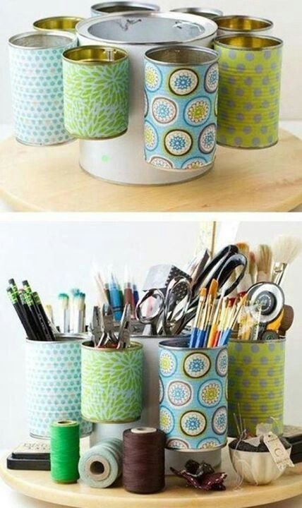Upcycled can organizer
