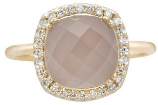 Opulence Pink Chalcedony Cushion Ring