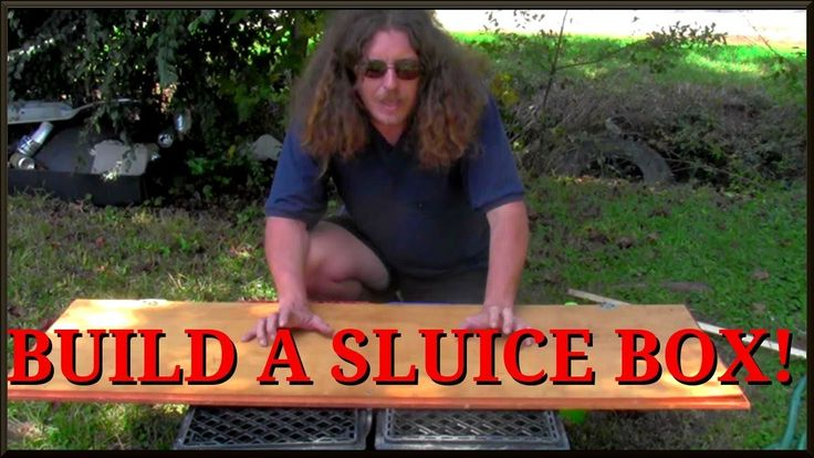 How to build a gold sluice box from junk!!