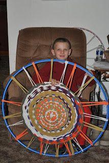 Prairie Mother Marker Monday Hula Hoop Weaving