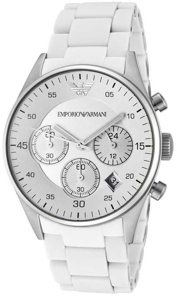 امبوريو ارماني ساعة عملية كاجوال رجال انالوج بعقارب ستانلس ستيل Ar5859 Breitling Watch Breitling Accessories
