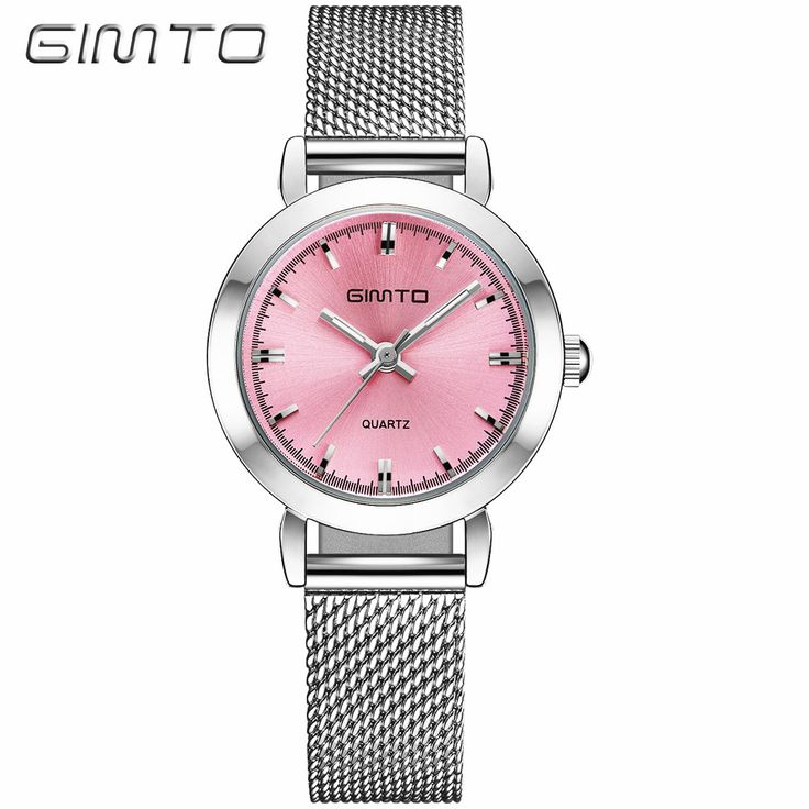 Gimto серебряные женские часы люксовый бренд водонепроницаемость montre femme нержавеющей стали 2017 платье женщина наручные часы | 32798711365_www