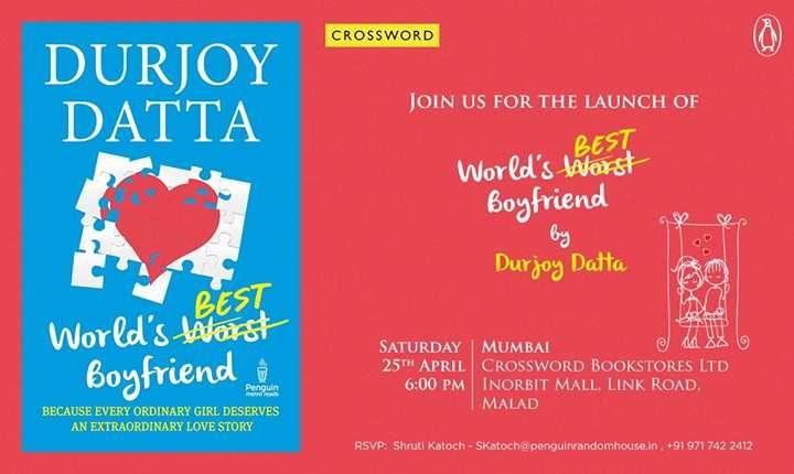 Meet Durjoy Datta at the launch of his book at Crossword Bookstore, Inorbit Mall Malad on 25 April 2015 | Events in Mumbai | mallsmarket.com