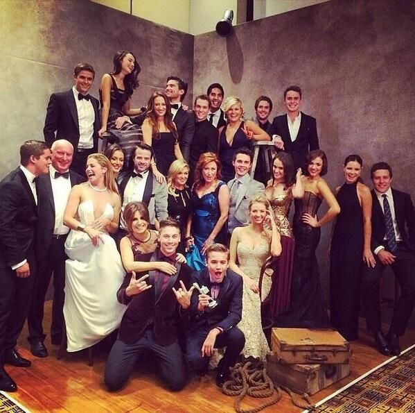 Home Away cast celebrate show winning a Silver Logie