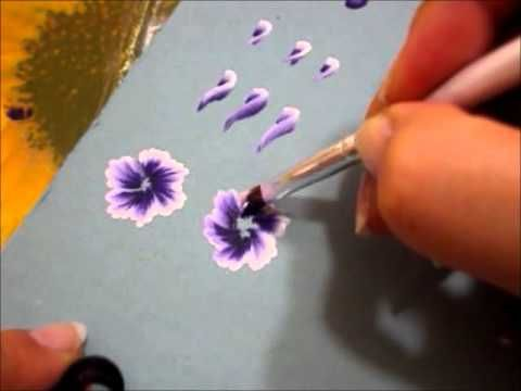 One Stroke Painting – osnovni potezi (listovi) – YouTube