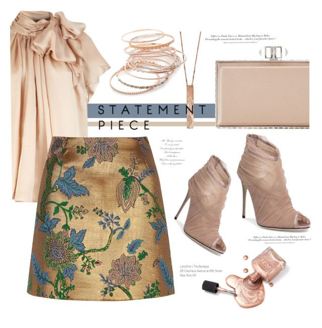 A fashion look from February 2017 by paperdollsq featuring River Island,  Dolce&Gabbana, Judith Leiber, Red Camel, Clara Jasmine and H&M