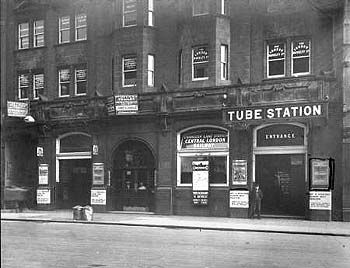 CHANCERY LANE TUBE STATION | HOLBORN | CAMDEN | LONDON | ENGLAND | ENGLAND: *London Underground: Central Line* Photo: June 1914