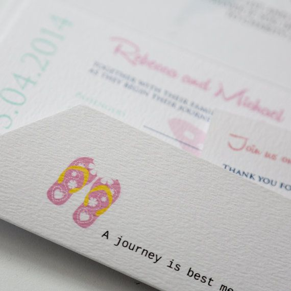 Quirky Beach Boarding Pass Travel Ticket by AngelfinsStationery
