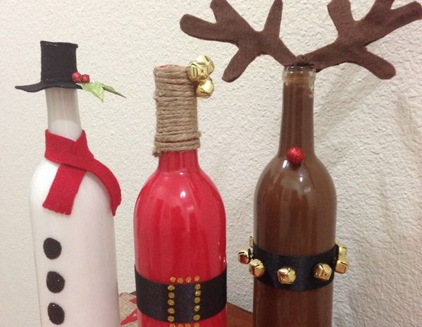 1000 images about christmas ideas on pinterest for Ideas for old wine bottles