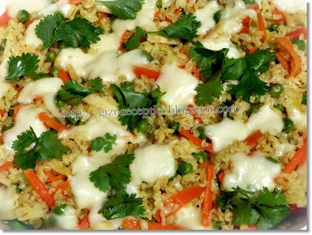 Gizi-receptjei. Várok mindenkit.: Bulgur pirított zöldségekkel.
