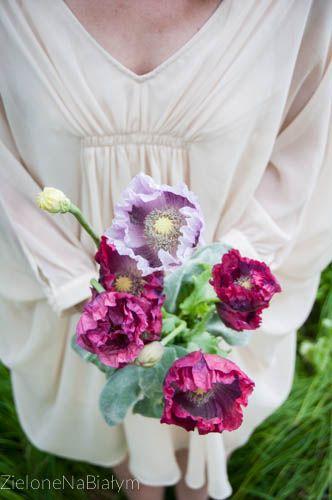 Bukiet Ślubny - Maki  #bukietslubny #bukiet #kwiaty #maki #slub #pannamloda #wiazanka #zielonenabialym
