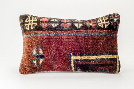 Vintage rug pillow   22'' x 14'' (57 cm x 35 cm)