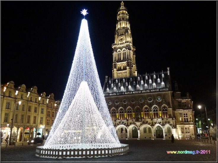Arras : Place des Héros  Noël 2011   photo nordmag-2011