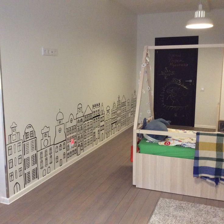 Как я разрисовывала детскую комнату или первый большой проект » Дина Михална