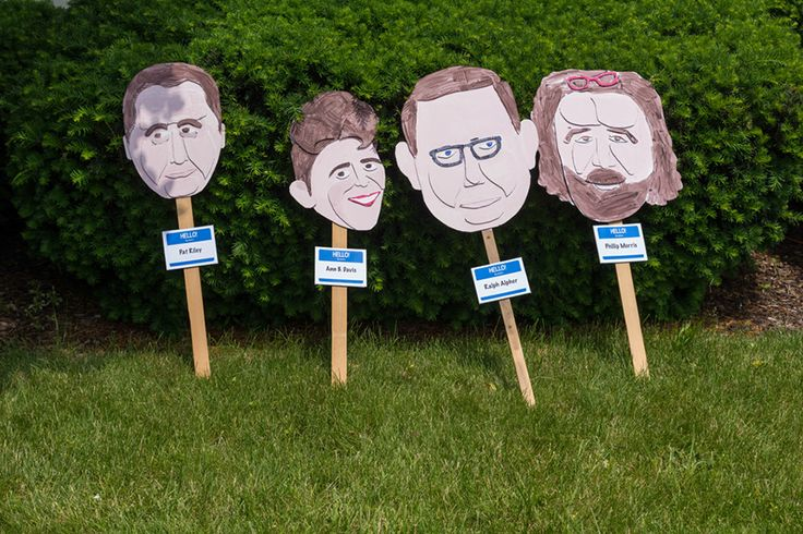 Heads on Sticks