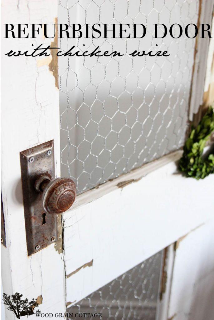 DIY Refurbished Door by The Wood Grain Cottage