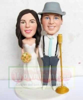 WowMiniMe 100 Handmade Custom Wedding Cake Toppers Look Like You From Photo