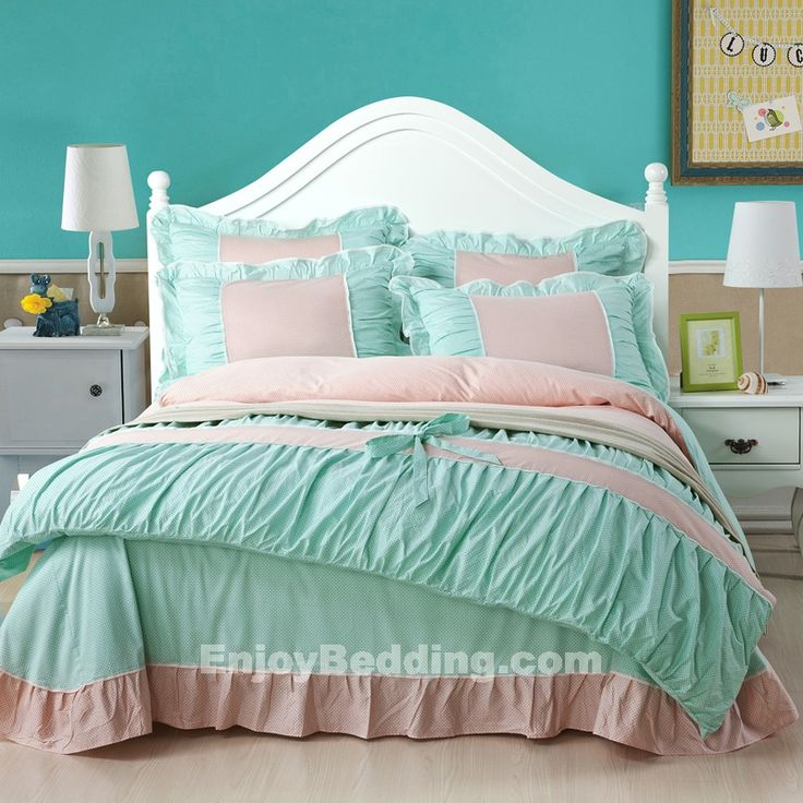 This Tiffany Blue Bedding Sets is made by 300 thread count ...