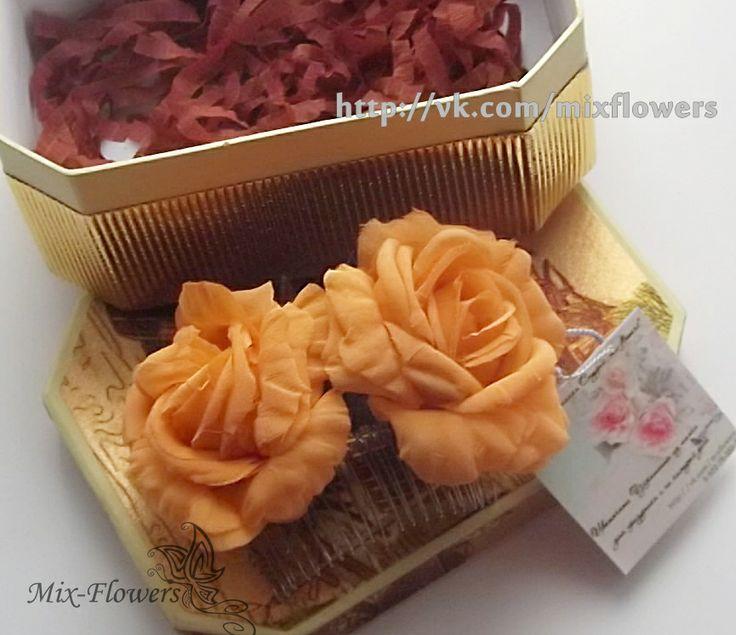 Silk rose barrette - crest, in Stock • $26 mix-flowers.ru