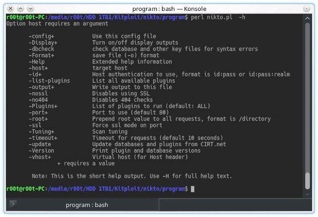 Nikto v2.1.6 - Web Server Scanner