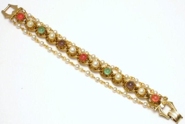 Florenza Glass Cabochon Bracelet