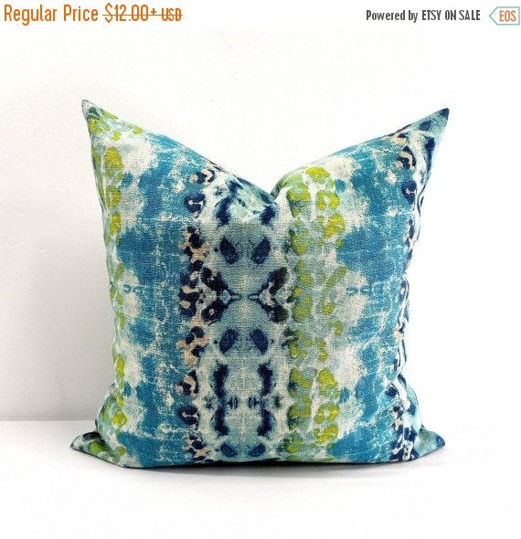 PILLOW SALE Mali Birch Frost Blue Pillow by TwistedBobbinDesigns