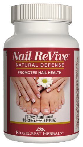 Nail ReVive - 60 Veg. Caps - Strengthen & Grow Long Beautiful Healthy Strong Fingernails & Toenails, and Avoid Ridges, White Spots, & More ( Multi-Pack) by RidgeCrest Herbals. $28.99. Uniquely blended and formulated to specifically target nail health. Free of animal products - 60 vegetarian capsules -100% all natural whole food based. Grow nails faster, eliminate lines, ridges, and hangnails - Results in as little as 4-8 weeks. Take 2 capsules twice daily for first 2 weeks,...
