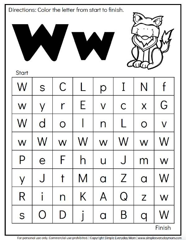 Free Animal Alphabet Worksheets For Preschool Kindergarten With