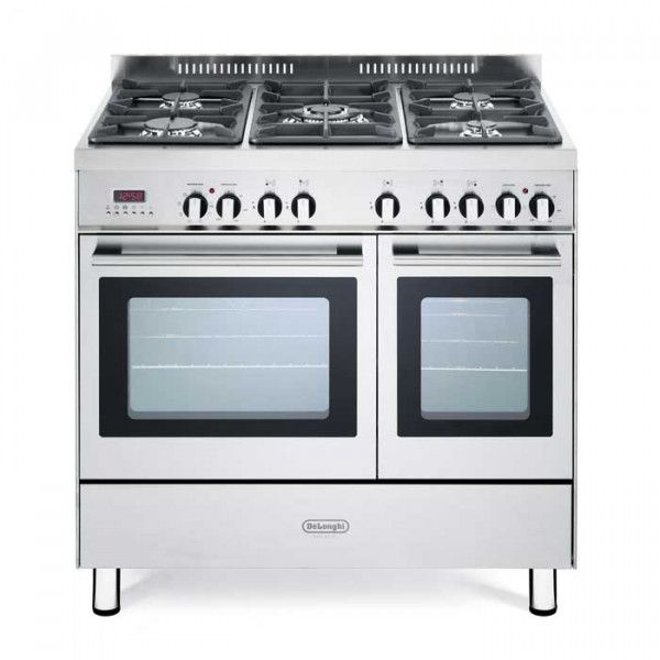 Delonghi DTR 906-DF Professional 90cm Twin Cavity Stainless Steel Dual Fuel Range Cooker