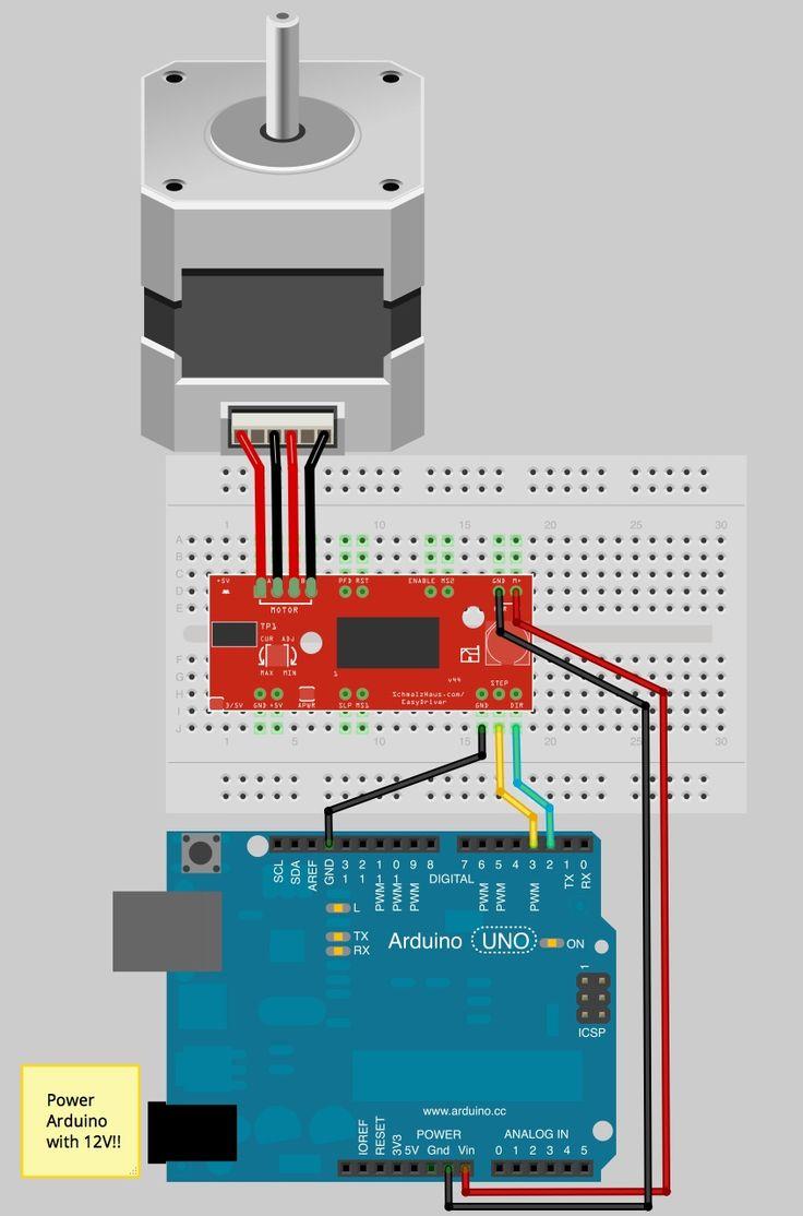 Beste ideeën over arduino stepper motor control op