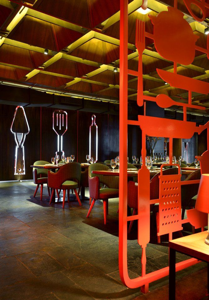 The Tower Kitchen by Khosla Associates and tsk Design #cafe #partition