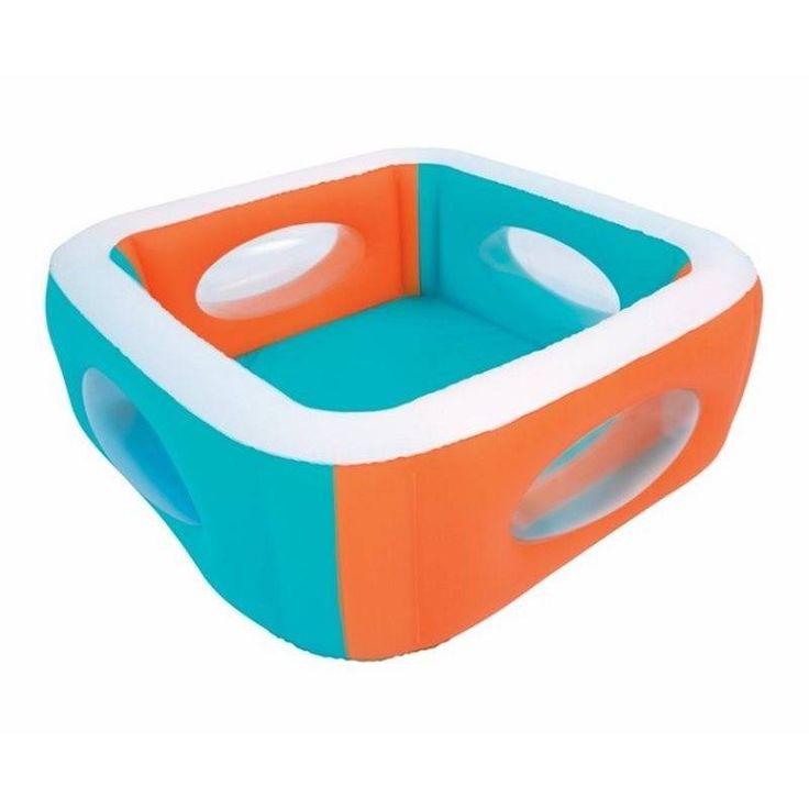 Piscina hinchable cuadrada 168x168x56cm infantil window bestway #piscinasinfantiles #piscinashinchables