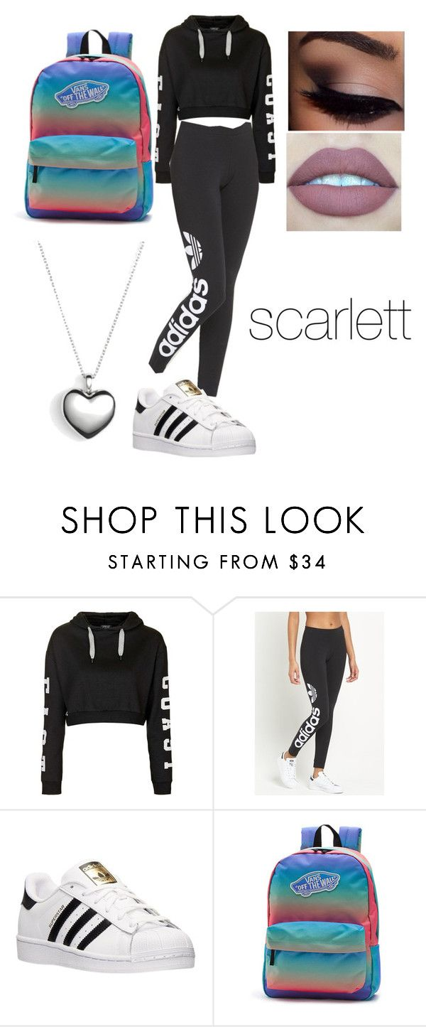 """scarlett"" by lauraederveen on Polyvore featuring Topshop, adidas Originals, adidas, Vans, Pandora, women's clothing, women, female, woman and misses"