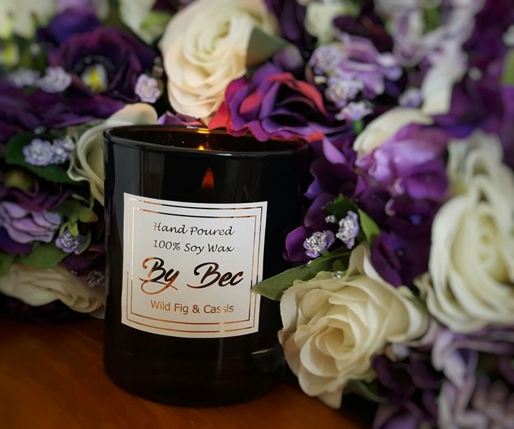 One of our gorgeously scented candles ❤