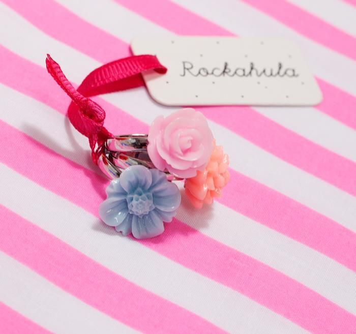 Resin Flower Rings x3 | Rockahula Kids | Sprogs Inc