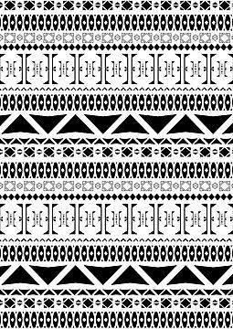 Black White Aztec Pattern