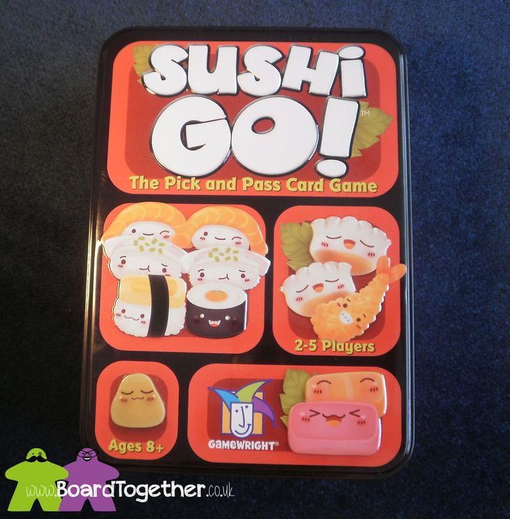 Sushi Go – A Review. Cute sushi and a face paced game, great fun.  Now, pass the soy sauce!