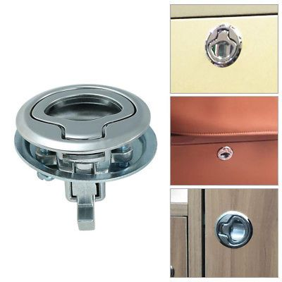 Ms858 8 Door Lock Round Flush Pull Slam Latch Lift Handle For Boat Deck Hatch Expedition Vehicle Diy Camper Trailer Expedition Truck