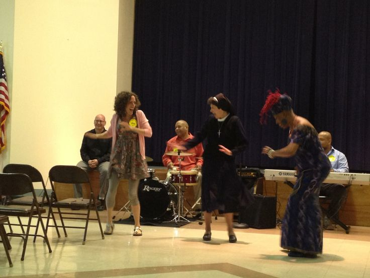 Finished up two residencies at St. Cecilia School in Philadelphia yesterday. St Cecilia, a catholic school in North Philly, is supported by our Adopt-A-School program. We were able to provide them with African percussion and dance residencies as well as a vocal program. Needless to say it seems like the nuns had a great time!