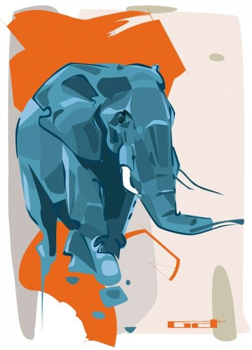 Animal Illustrations by Denis Gonchar