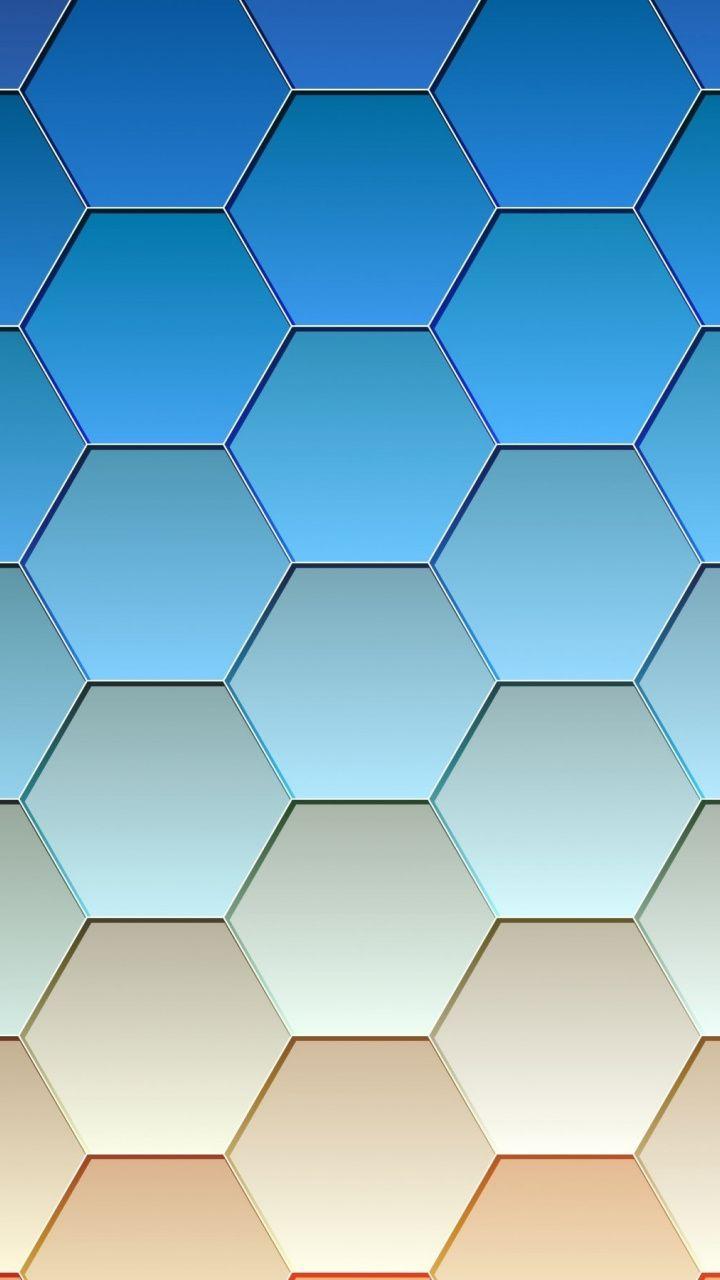Hexagonal Grid Gradient Abstract 720x1280 Wallpaper In